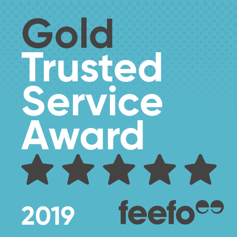 Feefo Gold Trusted Service 2019